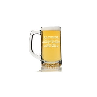 Alcohol Because No Great Story Started with Milk Beer Mug (Set of 4)