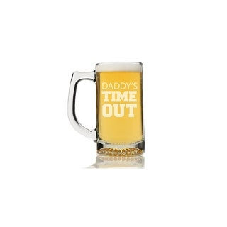 Daddy's Time Out Beer Mug (Set of 4)