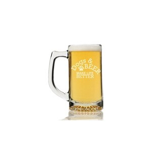 Dogs And Beer Make Life Better Beer Mug (Set of 4)