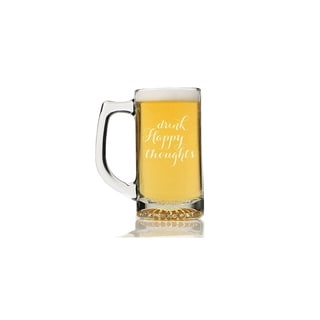 Drink Happy Thoughts Beer Mug (Set of 4)