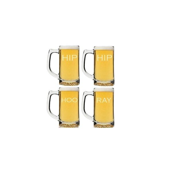 Hip Hip Hoo Ray Beer Mug (Set of 4)