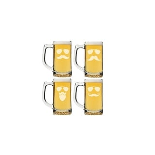 Mustache and Sunglasses Beer Mug (Set of 4)