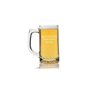 Bad Decisions Make Good Stories Beer Mug (Set of 4)