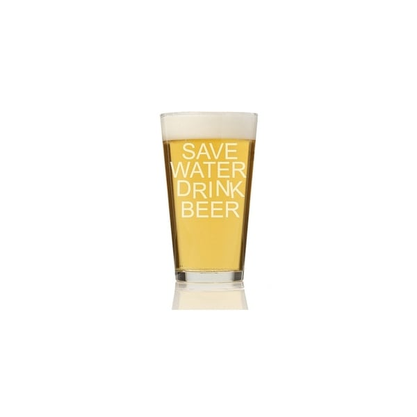 Save Water Drink Beer Pint Glass (Set of 4)