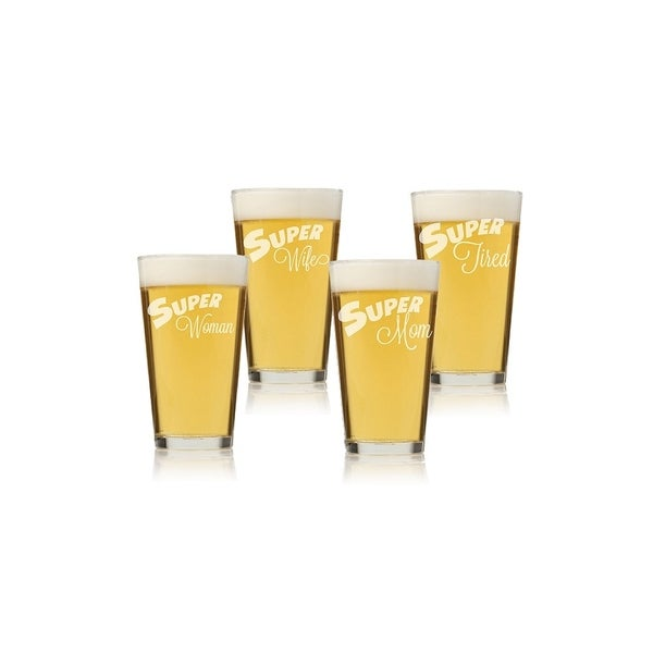 My Super Woman Pint Glass (Set of 4)