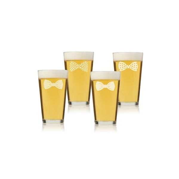 Bowties Collection Pint Glass (Set of 4)