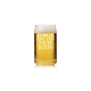 Dogs Are The New Kids Can Glass (Set of 4)