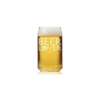 Beer Lover Can Glass (Set of 4)