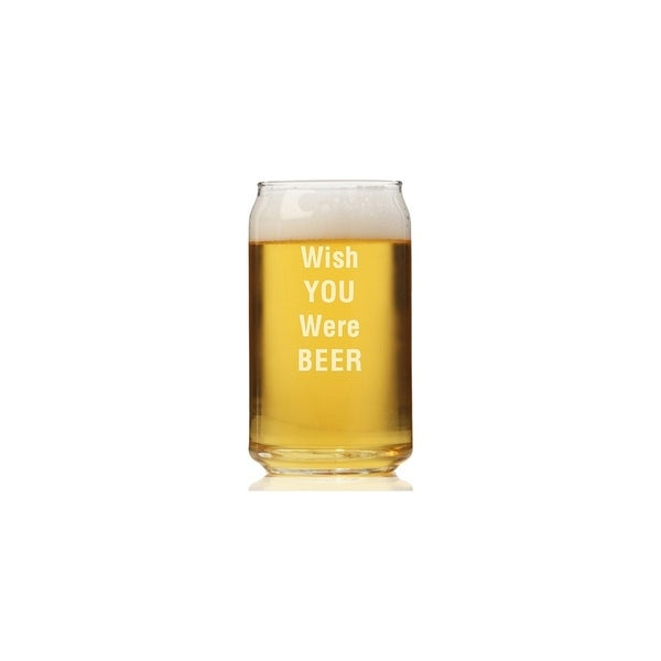 Wish You Were Beer Can Glass (Set of 4)