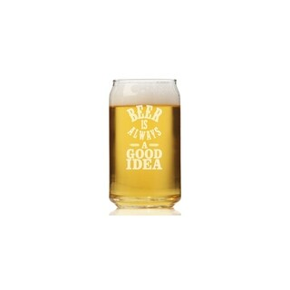 Beer Is Always A Good Idea Can Glass (Set of 4)