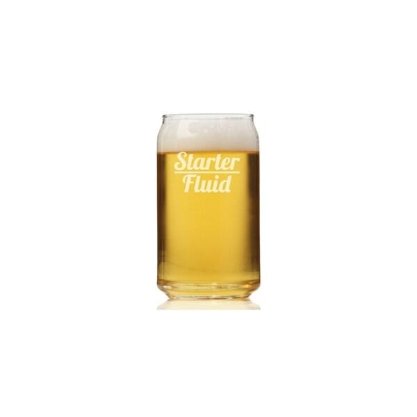Starter Fluid Can Glass (Set of 4)