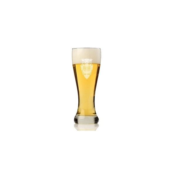 Owl Pilsner Beer Glass (Set of 4)