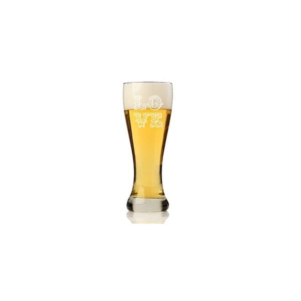 Love Ornate Pilsner Beer Glass (Set of 4)