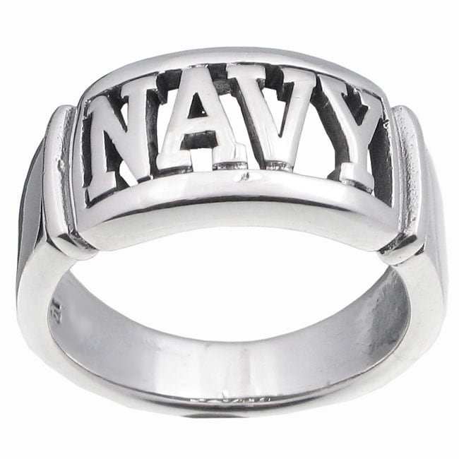 Journee Sterling Silver Large Armed Forces Ring