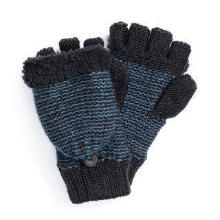MUK LUKS® Men's Fingerless Flip Mittens