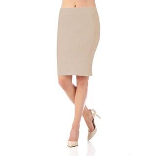 Lamonir Short Pencil Skirt with Back Zip