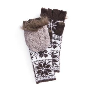 MUK LUKS® Women's Snowflake Long Flip Mittens
