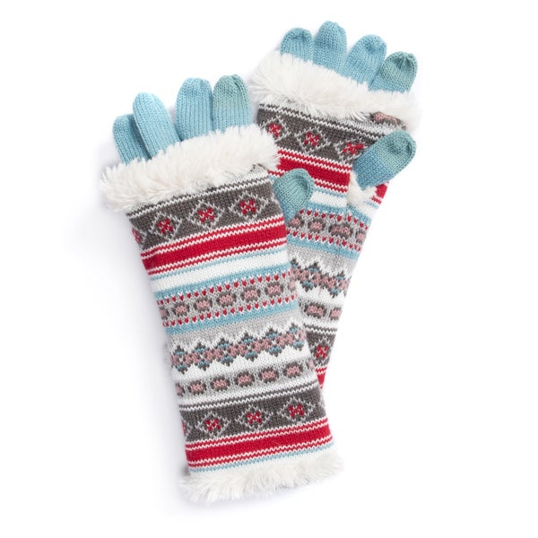 MUK LUKS® Women's Fairisle 3-in-1 Gloves