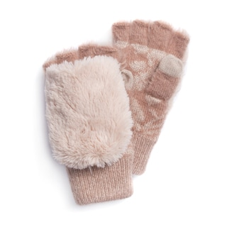 MUK LUKS® Women's Rose Fingerless Flip Mittens
