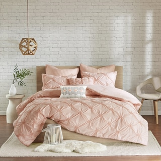 Maison Rouge Rimbaud Pink Embroidered 7 Piece Comforter Set With Pintuck  Detailing