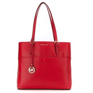 Michael Kors Bedford Large Bright Red Pocket Tote Bag