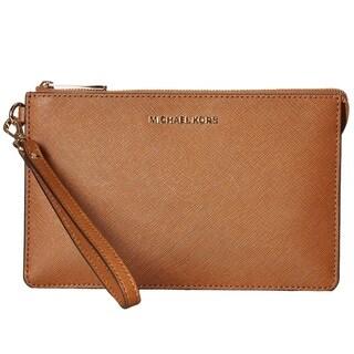 Michael Kors Daniela Medium Luggage Brown Wristlet Wallet