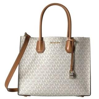 Michael Kors Mercer Large Convertible Vanilla Signature Tote Bag