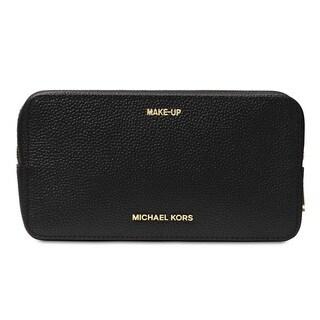MICHAEL Michael Kors Mercer Large Black Double Zip Travel Pouch