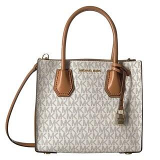 Michael Kors Mercer Medium Vanilla Signature Crossbody Handbag