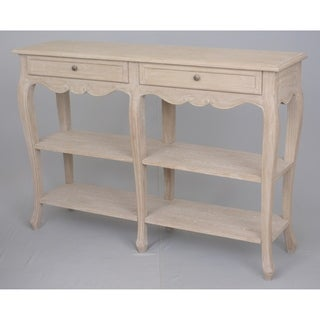 Versaiiles Brown Wood 2-drawer Console Table