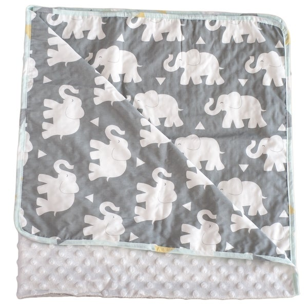 Indie Elephant Chenille Baby Blanket