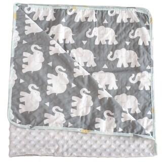 Indie Elephant Chenille Baby Blanket