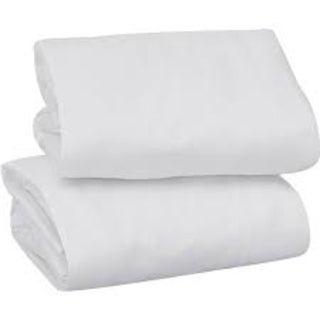 Solid White Crib Sheet Set
