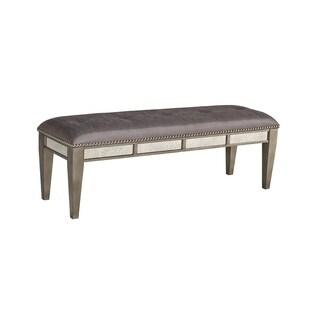 Highland Ave Grey Glam Bench