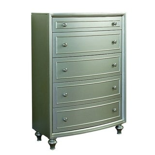 Park Ave Silver Wood Glam Chest