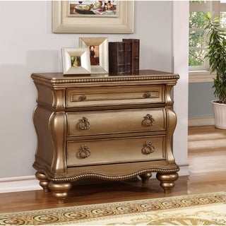 Chelsea Gold-tone Wood Accent Chest