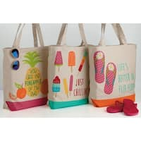 Design Imports Pool Party Tote Bag Set of 3