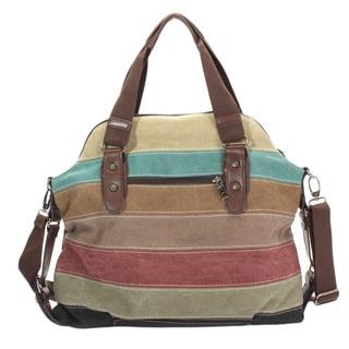 Fashion Striped Shoulder Handbag