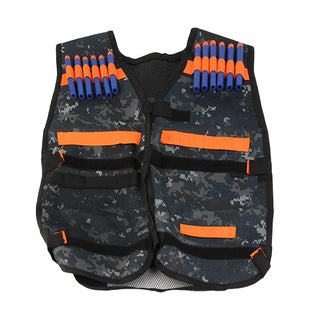 Thickened Waterproof Tactical Vest + 100 Pieces Refill Gun Bullet For Nerf Gun