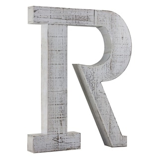 Wood Letter Hanging Initial R