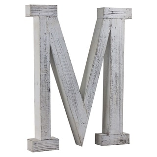 Wood Letter Hanging Initial M
