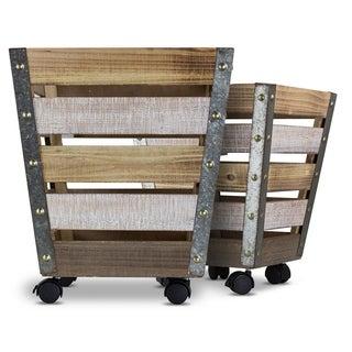 American Art Decor Wooden Farmhouse Storage Crates