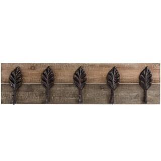 Wall Mounted Wood and Metal Coat Rack Farmhouse Wall Decor