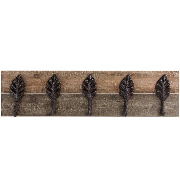 Antique Cream Wood Metal Wall Decor: Shop American Art Decor Vintage Farmhouse Coat Key Rack