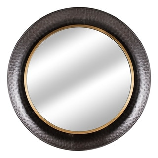 Link to American Art Decor Round Gold Concave Silver Metal Wall Vanity Mirror - Antique Brown - A Similar Items in Mirrors