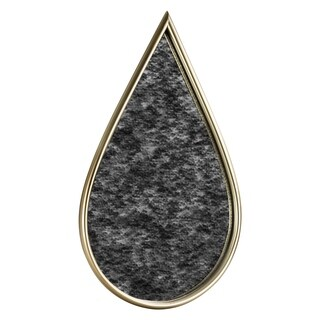 Millennium Art Gold Teardrop Antiqued Wall Vanity Mirror - Antique Gold