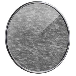 American Art Decor Round Silver Antiqued Framed Wall Mirror - Antique Silver - A/N