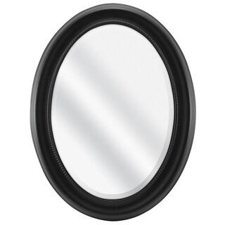 Black Beaded Oval Wall Mirror