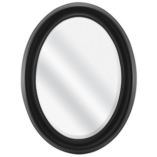Black Beaded Oval Wall Mirror
