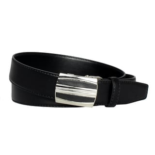 Men's Belt Steel Magnetic Frame Black Leather